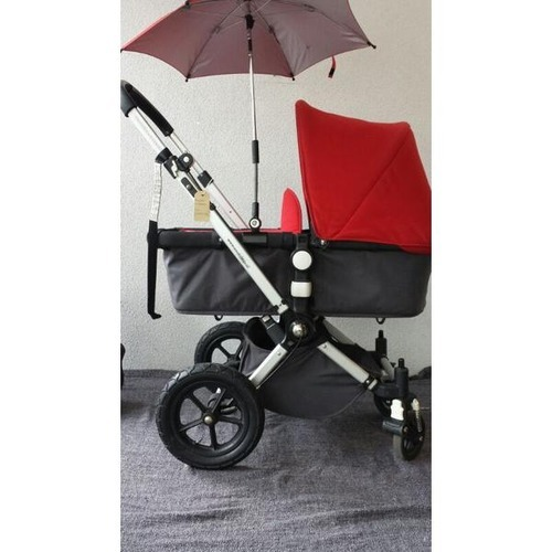 bugaboo cameleon rood zwart met regenhoes kinderwagen needykids bugaboo kinderkleding. Black Bedroom Furniture Sets. Home Design Ideas